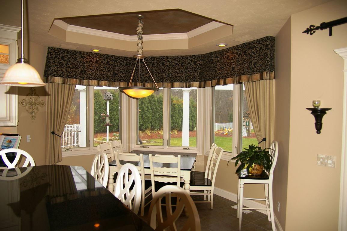 Bay window treatments dining
