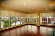 Motorized solar screen roller shades was the perfect choice for this high rise condo.